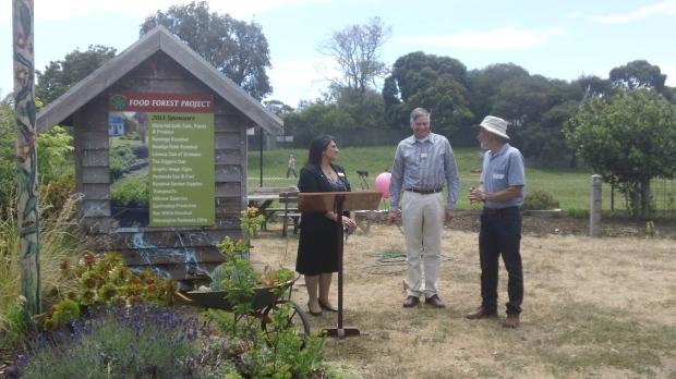 Food forest launch  - Antonella, David and John Eldridge 3 30 11 13